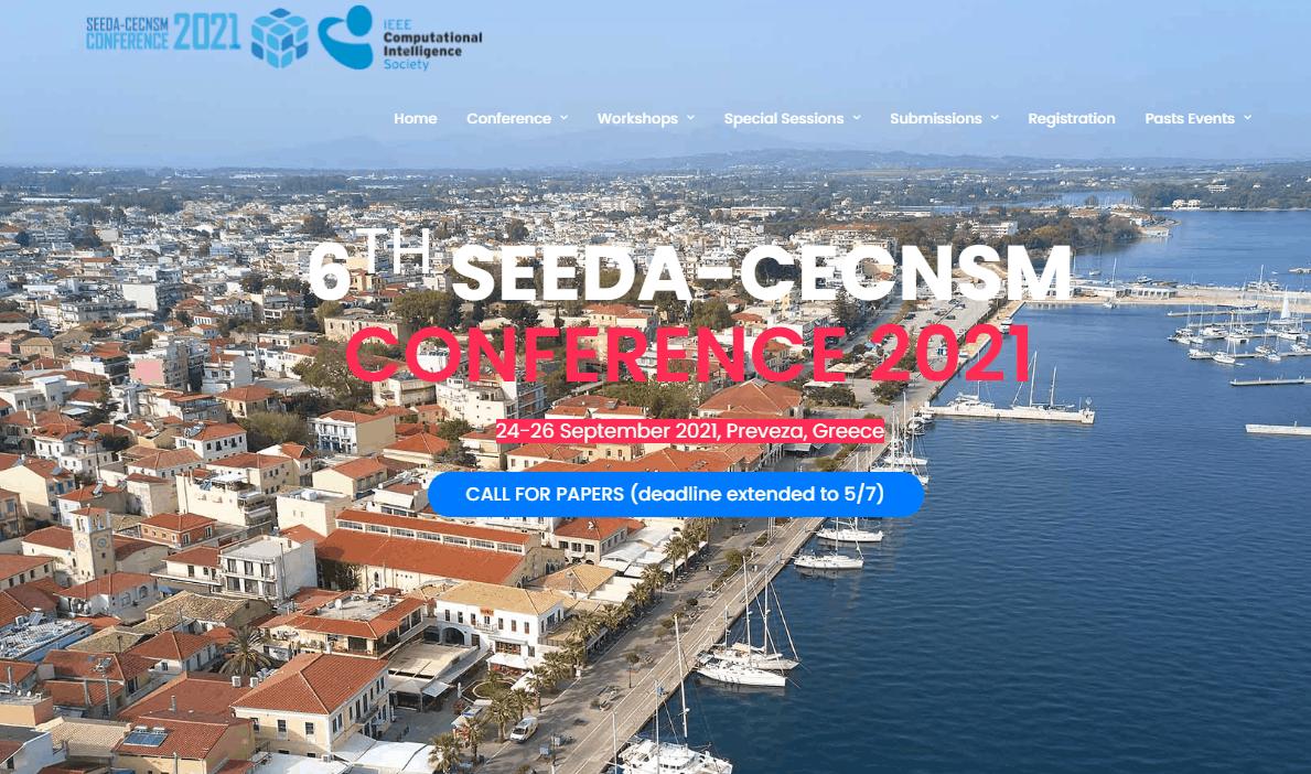"""Διεθνές συνέδριο """"6th South-East Europe Design Automation, Computer Engineering, Computer Networks and Social media Conference (SEEDA-CECNSM 2021), στις 24-26 Σεπτεμβρίου 2021"""
